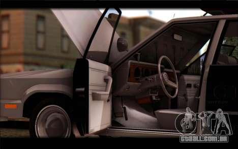 Ford Fairmont 1978 4dr Police para GTA San Andreas vista direita