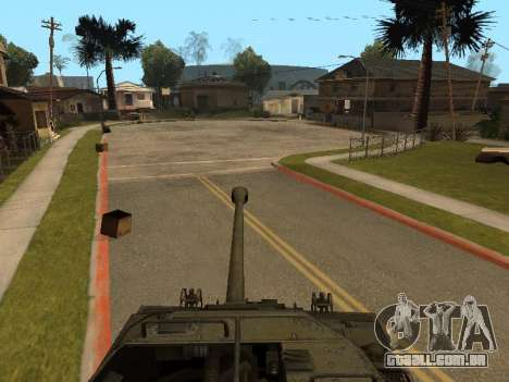 M18-Hellcat para GTA San Andreas vista interior