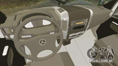 Mercedes-Benz Sprinter US Mail para GTA 4 vista de volta