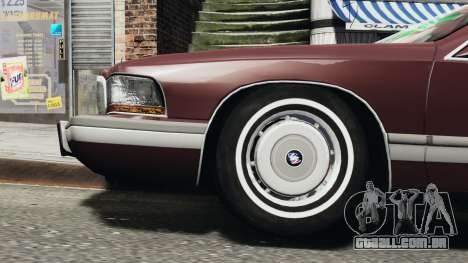 Buick Roadmaster 1996 para GTA 4 traseira esquerda vista