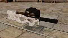 Pistola-metralhadora P90 Arctic Camo