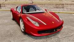 Ferrari 458 Italia 2010 Novitec para GTA 4