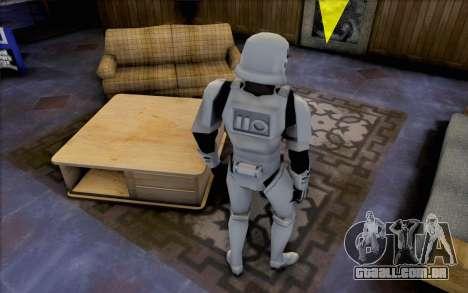 Stormtrooper de Star Wars para GTA San Andreas terceira tela