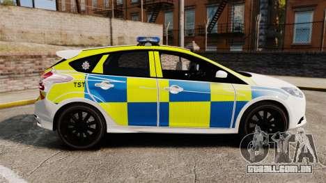 Ford Focus 2013 Uk Police [ELS] para GTA 4 esquerda vista