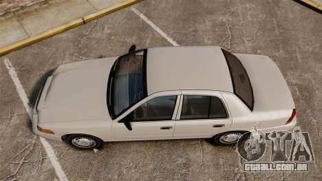 Ford Crown Victoria 1998 v1.1 para GTA 4 vista direita