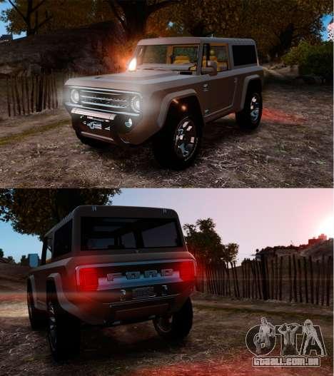 Ford Bronco Concept 2004 para GTA 4 vista inferior