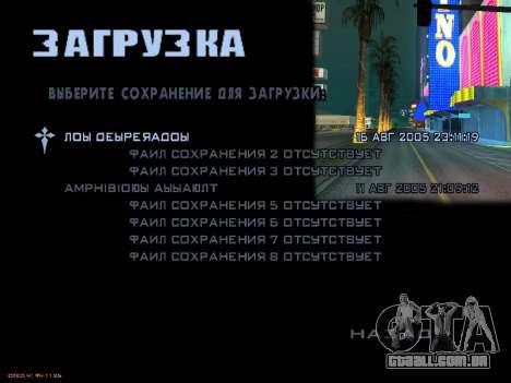 Novas telas de carregamento para GTA San Andreas décima primeira imagem de tela