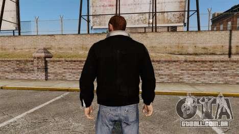 Jaqueta de couro preta para GTA 4 segundo screenshot