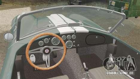Shelby Cobra 427 SC 1965 para GTA 4 vista de volta