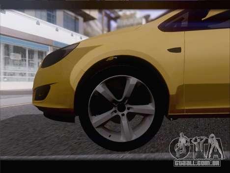 Opel Astra J 2011 para vista lateral GTA San Andreas