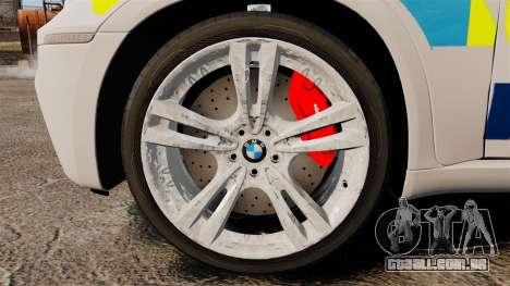 BMW X5 City Of London Police [ELS] para GTA 4 vista de volta