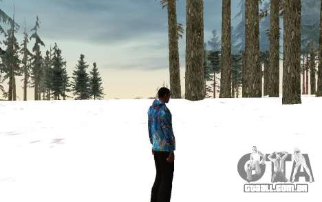 Jaqueta Sochi 2014 para GTA San Andreas por diante tela