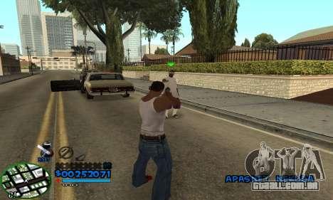 C-HUD CutHot para GTA San Andreas terceira tela
