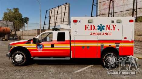 Ford F-350 2013 FDNY Ambulance [ELS] para GTA 4 esquerda vista