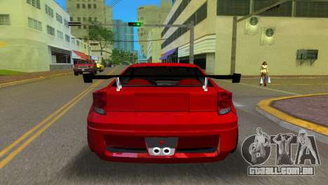 Toyota Celica XTC para GTA Vice City vista traseira esquerda