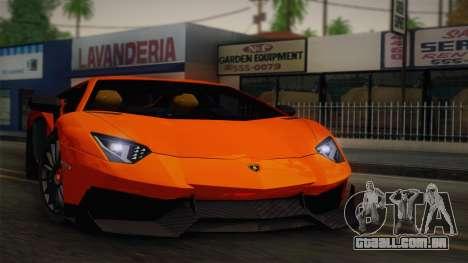 Lamborghini Aventador LP 700-4 RENM Tuning para GTA San Andreas vista traseira
