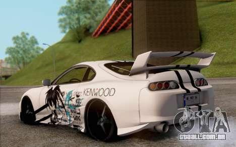 Toyota Supra Mk IV para GTA San Andreas esquerda vista