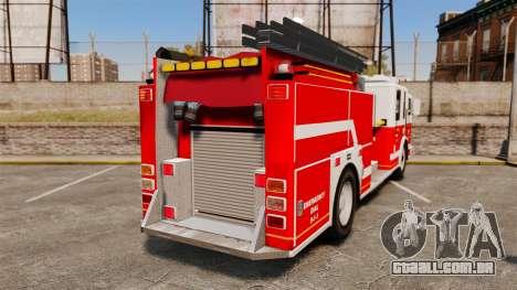 Firetruck Alderney [ELS] para GTA 4 traseira esquerda vista
