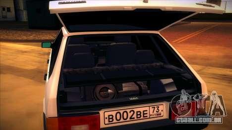 2109 Vaz, v. 2 para GTA San Andreas vista direita