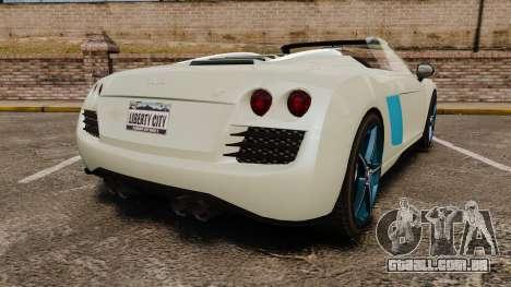 GTA V Obey 9F Spider para GTA 4 traseira esquerda vista