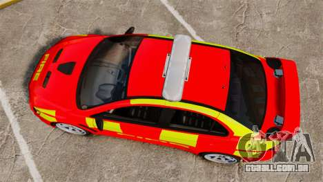 Mitsubishi Lancer Evo X Fire Department [ELS] para GTA 4 vista direita