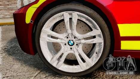 BMW M5 West Midlands Fire Service [ELS] para GTA 4 vista de volta