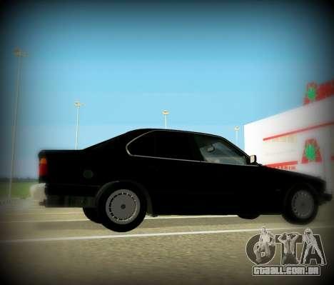 BMW 525 E34 para GTA San Andreas esquerda vista