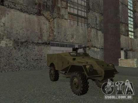 BTR-40 para GTA San Andreas vista superior