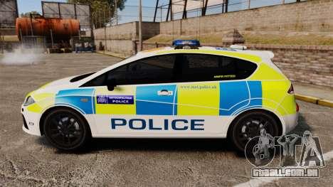Seat Cupra Metropolitan Police [ELS] para GTA 4 esquerda vista