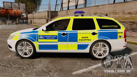 Skoda Octavia RS Metropolitan Police [ELS] para GTA 4 esquerda vista