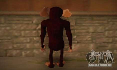 Chimpanzé para GTA San Andreas segunda tela