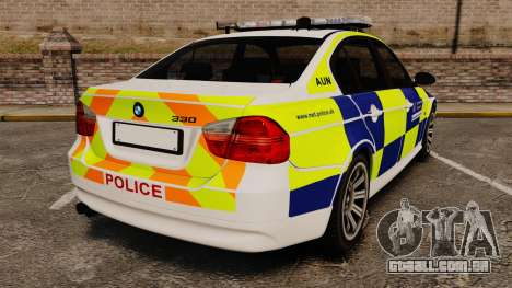 BMW 330i Metropolitan Police [ELS] para GTA 4 traseira esquerda vista