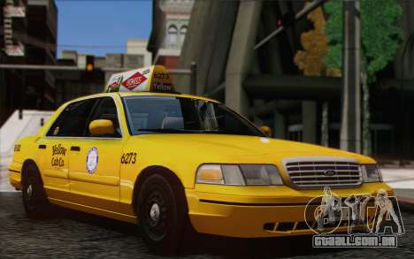 Ford Crown Victoria LA Taxi para GTA San Andreas traseira esquerda vista