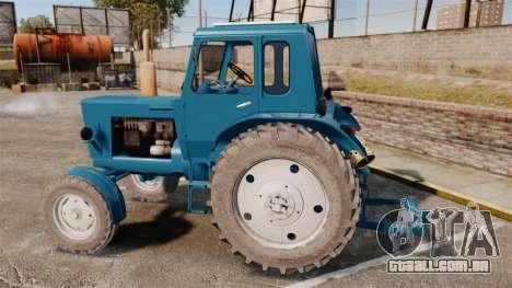 Trator MTZ-80 para GTA 4 esquerda vista