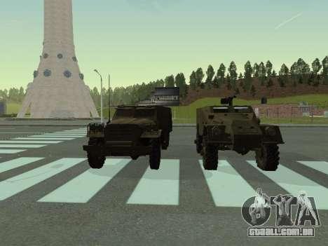BTR-40 para GTA San Andreas vista interior