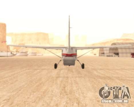 Cessna 208B Grand Caravan para GTA San Andreas vista direita