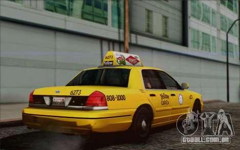 Ford Crown Victoria LA Taxi para GTA San Andreas esquerda vista