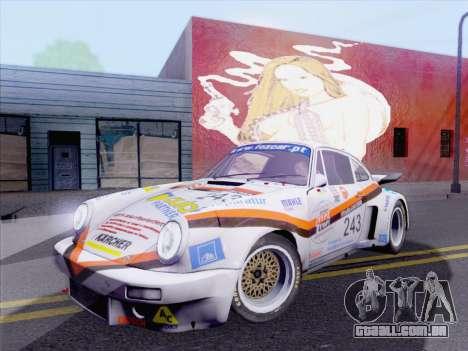 Porsche 911 RSR 3.3 skinpack 5 para GTA San Andreas traseira esquerda vista