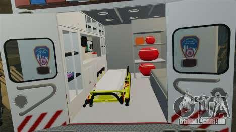 Ford F-350 2013 FDNY Ambulance [ELS] para GTA 4 vista de volta