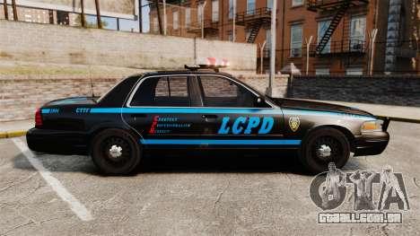 Ford Crown Victoria 1999 LCPD para GTA 4 esquerda vista