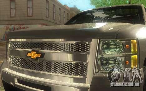 Chevrolet Cheyenne LT 2012 para GTA San Andreas vista traseira