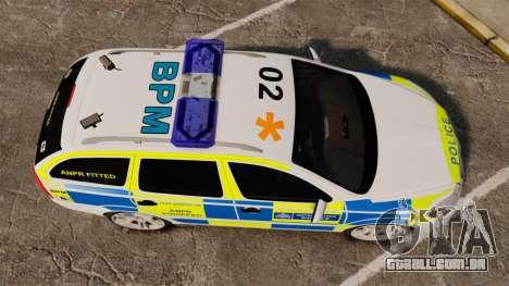 Skoda Octavia RS Metropolitan Police [ELS] para GTA 4 vista direita