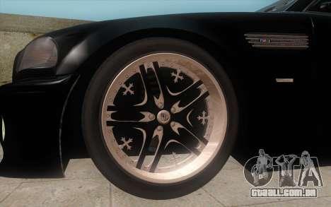 BMW M3 e46 Duocolor Edit para GTA San Andreas traseira esquerda vista