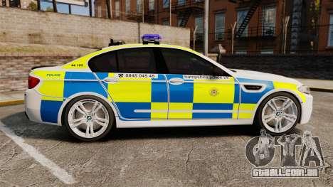 BMW M5 Marked Police [ELS] para GTA 4 esquerda vista