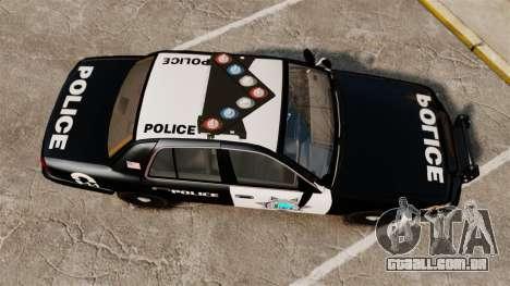 Ford Crown Victoria Liberty State Police para GTA 4 vista direita