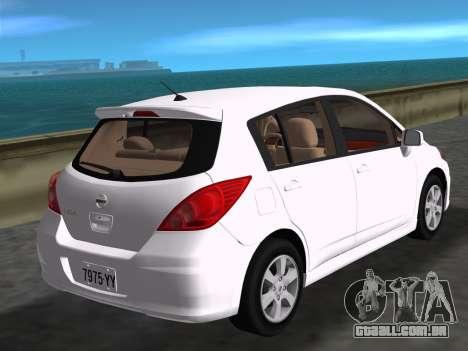 Nissan Tiida para GTA Vice City deixou vista