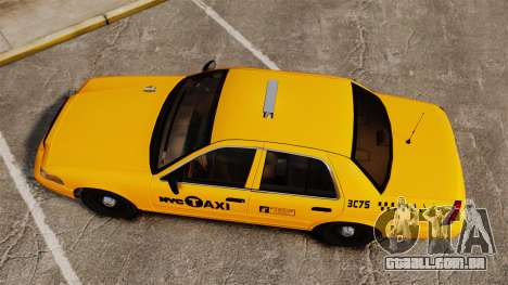 Ford Crown Victoria 1999 NYC Taxi para GTA 4 vista direita