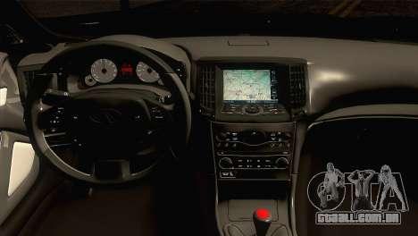 Infiniti G37 para GTA San Andreas vista direita