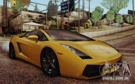 Lamborghini Gallardo SE para GTA San Andreas vista direita