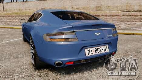 Aston Martin Rapide 2010 para GTA 4 traseira esquerda vista